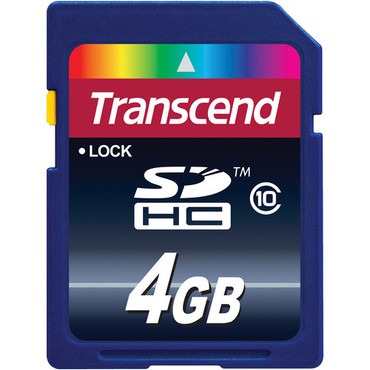 Transcend 4GB SDHC Memory Card Class 10
