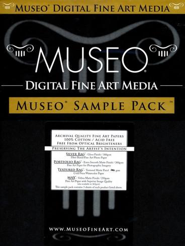 Museo 8.5X11 250Gsm 12 Total Sampler Sheets- 3 Sheets Ea