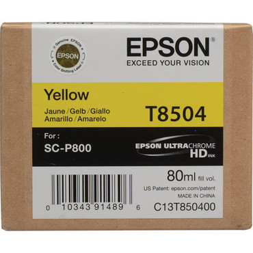 Epson T8504 Ultrachrome HD Yellow for SC-P800