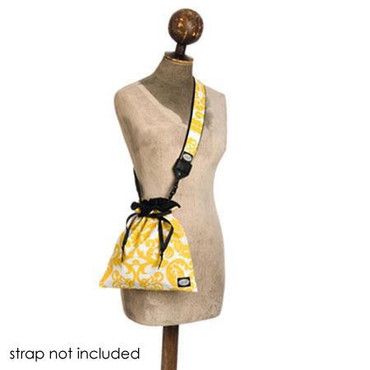 MOD COMPACT CAM POUCH - YELLOW & WHITE DAMASK