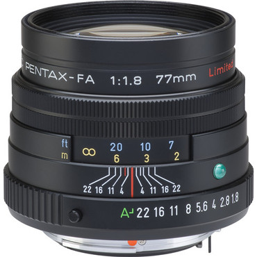 Pentax 77mm f/1.8 Limited SMCP-FA Black