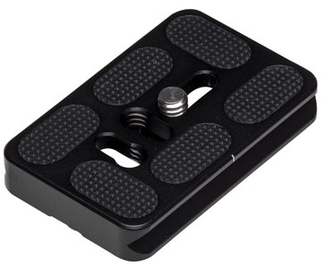 Black PU-60 Universal Quick Release Plate for Tripod Ball Head Compatible with Arca