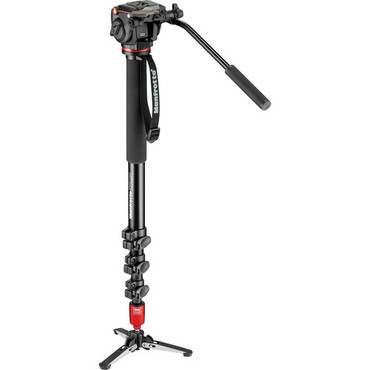 Manfrotto MVM450A Aluminum Monopod with MHXPRO-2W Head and Fluid Base