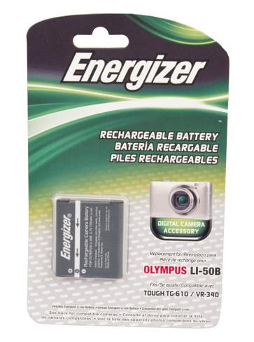 Bower ENB-O50B Energizer Digital Replacement Battery LI-50B for Olympus MJU 1030 SW, 9010 and Tough 8010 (Black)