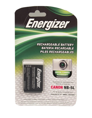 Bower ENB-C5L Energizer Digital Replacement Battery NB-5L for Canon IXUS 970 IS, PowerShot SD900 and SX210 IS (Grey)