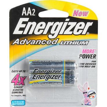 Energizer Ultimate Lithium AA Batteries (1.5V, 3500mAh, 2-Pack)