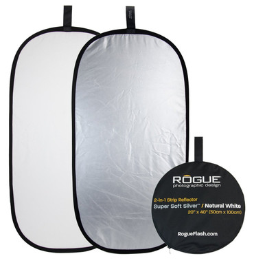 """Rogue Photographic Design 2-in-1 Collapsible Reflector 20 x 40"""","""