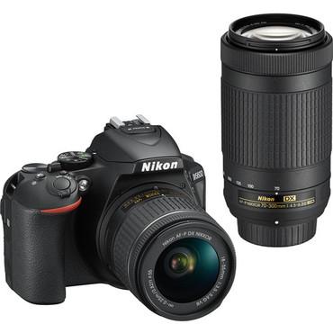 Nikon D5600 DX w/ 18-55mm & 70-300mm Lenses