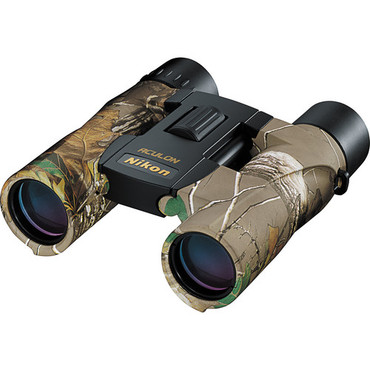 Nikon 10x25 Aculon A30 Binocular with Clamshell Packaging (Real Tree Camo)