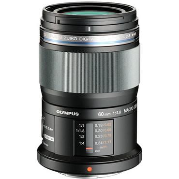 Olympus 60mm f/2.8 Macro M.Zuiko Digital ED Lens (Black) (ACE32376)