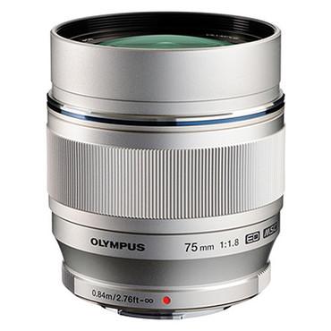 Olympus 75mm f/1.8 M.Zuiko Digital ED Lens (Silver)