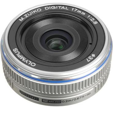Olympus 17mm f/2.8 M.Zuiko Lens (Silver)