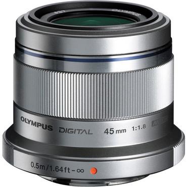 Olympus 45mm f1.8 M.Zuiko ED Lens (Silver)