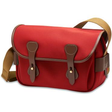 Billingham S3 Shoulder Bag (Burgundy Canvas/Chocolate Leather)