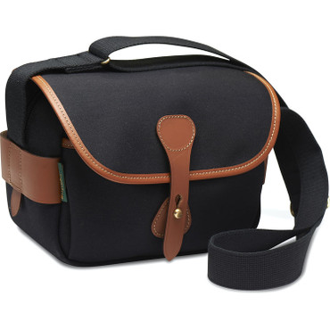 Billingham  S2 Shoulder Bag (Black Canvas/Tan Leather)