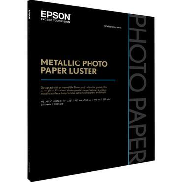 "Epson Metallic Photo Paper Luster (17 x 22"", 25 Sheets)"