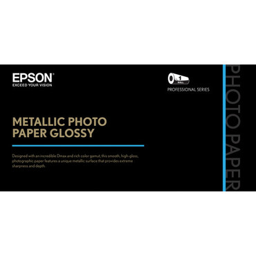 "Epson Metallic Photo Paper Glossy (44"" x 100', 1 Roll)"