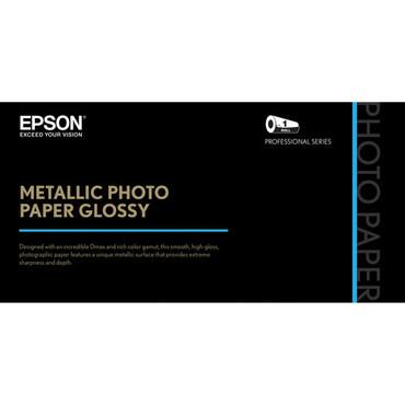 "Epson Metallic Photo Paper Glossy (24"" x 100', 1 Roll)"