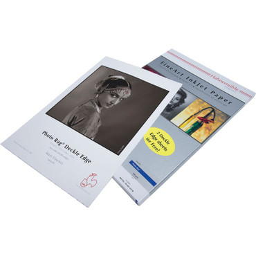 """Hahnemühle  Museum Etching Inkjet Paper with 2 Sheets of Deckle Edge Paper (13 x 19"""", 25 Sheets)"""