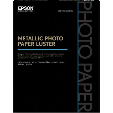 "Epson  Metallic Photo Paper Luster (8.5 x 11"", 25 Sheets)"