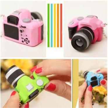 Leegoal(TM) Vivid DSLR Camera LED Flash & Shutter Sound Keychaing, Gray, Yellow, Pink, Green