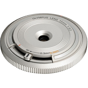 Olympus 15mm f8.0 Silver Body Lens Cap for m4/3