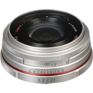 HD Pentax DA 21mm f/3.2 AL Limited Lens (Silver)