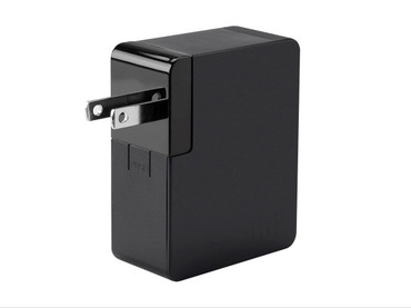Monoprice Obsidian Series 2 Port 4.8A USB Charger, International, US/EU/UK/AU plugs(113916)