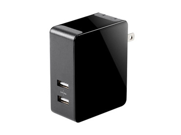 Monoprice Obsidian Series 2-Port 4.8A USB Smart Charger (115515)