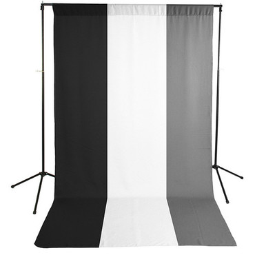 Savage Economy Background Support Stand with White, Black, and Gray