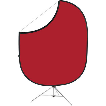 Savage  Collapsible/Reversible Background (5 x 6', Matador Red/White)
