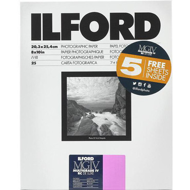 """Ilford Multigrade IV RC DeLuxe Paper (Glossy, 8 x 10"""", 30 Sheets)"""