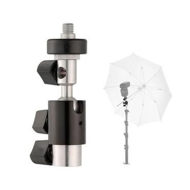 Flash Hot Shoe Umbrella Holder Swivel Bracket Mount Light Stand Type D for Flash