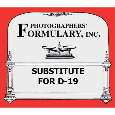 Formulary Substitute for D-19 Developer - Makes 1 Gallon