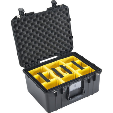 Pelican 1557 Air Case (Black, Padded Dividers)