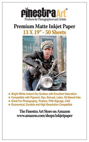 "Pro Silky, Bright White 13x19"", 50 Sheets"