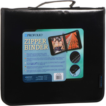"Itoya Zipper Portfolio Case with Multi-Ring Binder (8.5 x 11"")"