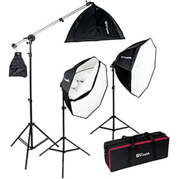Smith Victor Octabella 3 LED Daylight Softbox Lighting Kit (1500W)
