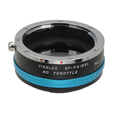 Vizelex ND Throttle Lens Mount Adapter - Canon EOS (EF / EF-S) D/SLR Lens to Fujifilm Fuji X-Series Mirrorless Camera Body with Built-In Variable ND Filter (1 to 8 Stops)