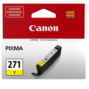 Canon  CLI-271 Yellow Ink Tank -For PIXMA MG5720, MG5721, MG5722, MG6820, MG6821, MG6822, MG7720, TS5020, TS6020, TS8020, and TS9020 Printers