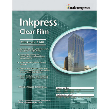 """Inkpress Media Clear Film (8.5 x 11"""", 5 Sheets)"""