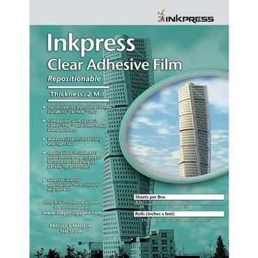 """Inkpress Media Inkpress Clear Adhesive Film (8.5 x 11"""" - 20 Sheets)"""