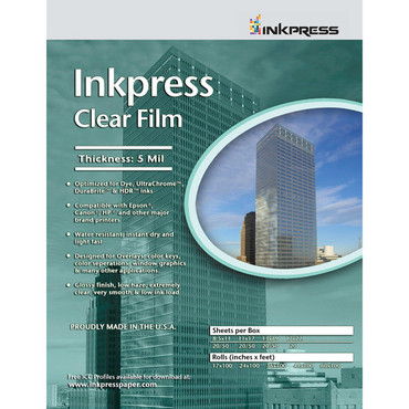 """Inkpress Media Clear Film (13 x 19"""", 20 Sheets)"""