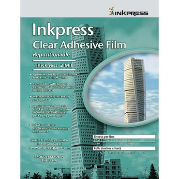 """Inkpress Media Inkpress Clear Adhesive Film (13 x 19"""" - 20 Sheets)"""