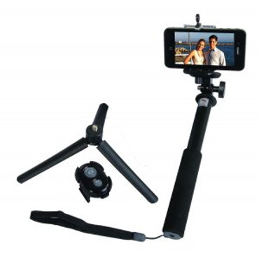 ZUMA Selfie Stick Kit with Removable Bluetooth, Adapter f/GoPro