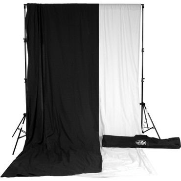 Savage Accent Muslin Background Kit (10 x 12', White/Black)