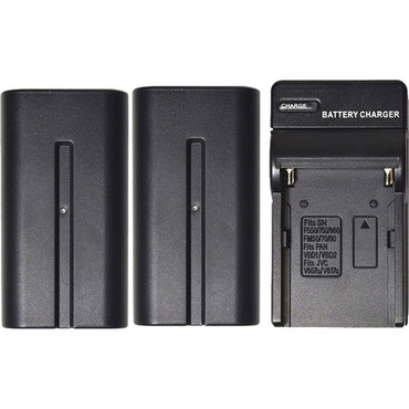 Savage 2-Pack of NP-F970 Lithium-Ion Batteries with Charger for LED Lights