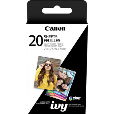"Canon 2 x 3"" ZINK Photo Paper Pack (20 Sheets) For IVY"