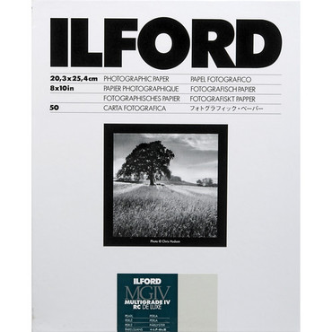 """Ilford Multigrade IV RC DeLuxe Paper (Pearl, 8 x 10"""", 50 Sheets)"""