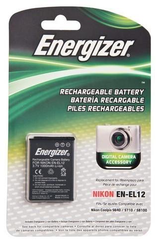 Energizer - Rechargeable Li-Ion Replacement Battery for Nikon EN-EL12